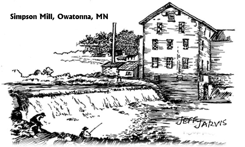 Owatonna, MN Grist Mill - SImpson by Jeff Jarvis